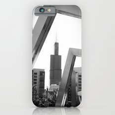 Sears Tower Sculpture Chicago Illinois Black and White Photo iPhone 6s Slim Case