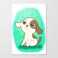 Lil Puppy Canvas Print