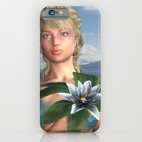 iPhone & iPod Case featuring Mermaid holding Water Lily by Design Windmill