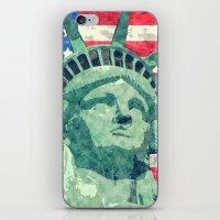 Statue Of Liberty Waterc… iPhone & iPod Skin