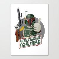 Freelance Bounty Hunter Canvas Print