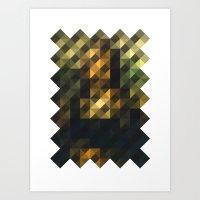 Mona Lisa Remix Remixed … Art Print