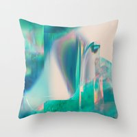 Pacifica Glitch Throw Pillow
