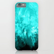 Teal - Fluid Abstract Art iPhone 6s Slim Case