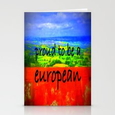 Proud To Be European Stationery Cards