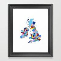 England, Ireland, Scotla… Framed Art Print