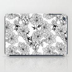 Floral. Light grey. iPad Case