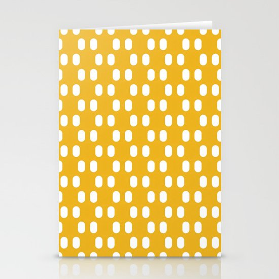 Aelbrecht Yellow Pattern Stationery Card
