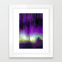 Sky Trees Framed Art Print