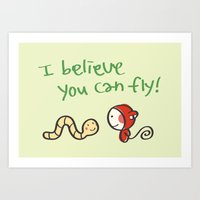 I Believe You Can Fly Art Print