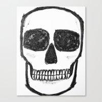 No. 89 - Black and white skull Canvas Print