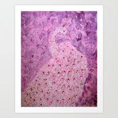 White Peacock Art Print