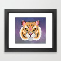 Space Tiger Framed Art Print