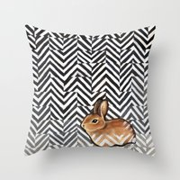 Little Miss Sarah Throw Pillow