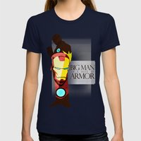 Suit of Armor : Iron Man Womens Fitted Tee Navy SMALL