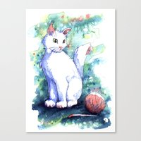 Playing Kitty Canvas Print