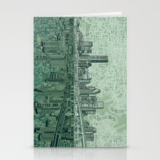 Houston City Skyline Stationery Cards