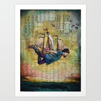 Over Seas Art Print