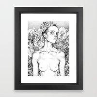 Self Portrait as a Beautiful Lady  Framed Art Print