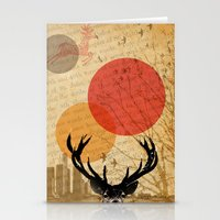 deer in the city Stationery Cards