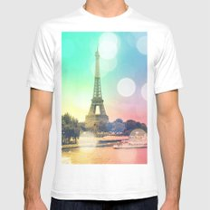 Paris. Mens Fitted Tee White SMALL