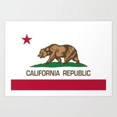 California Republic state flag - Authentic Version Art Print