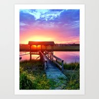 Litchfield Sunset Art Print