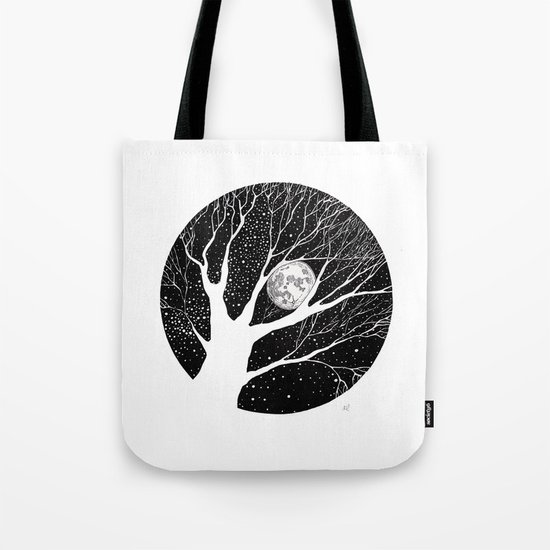moonlight shadow Tote Bag