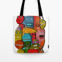 Robots Of Cornwall Tote Bag