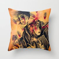 Japanese Ghost Throw Pillow