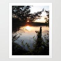 Twilight Woods. Art Print