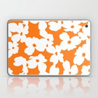 Dogwood Floral: Orange / White Laptop & iPad Skin