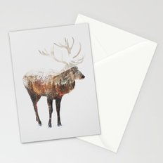 Arctic Deer Stationery Cards
