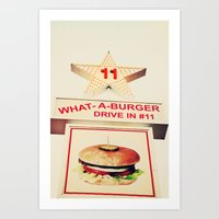 What A Burger Art Print