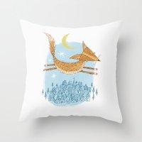 'Flying Fox' Throw Pillow