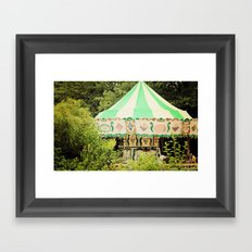 Zoo Carousel Framed Art Print