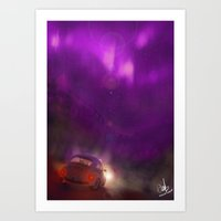 The Pink And Violet Art Print