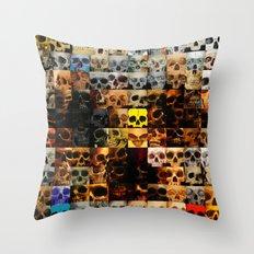 100 Painted Skulls Throw Pillow