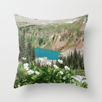 The Blue Lakes of Colorado Throw Pillow
