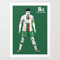 R is for Ronaldo Art Print