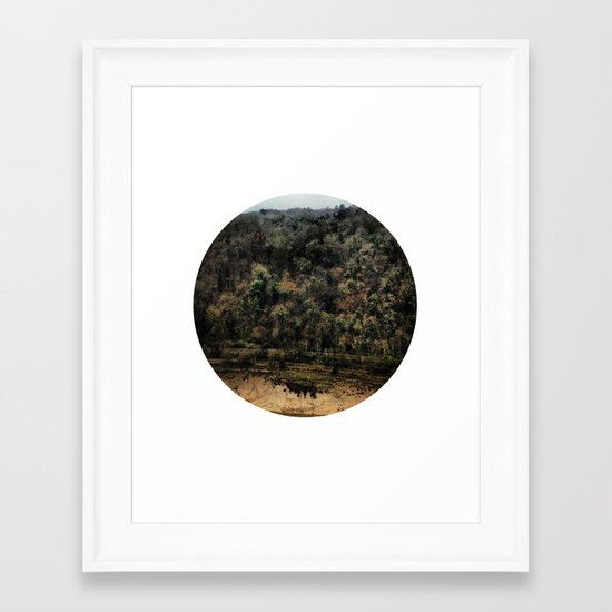 Telescope 11 gorge Framed Art Print