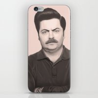 Ron Swanson iPhone & iPod Skin