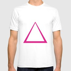 Pink Triangle  Mens Fitted Tee SMALL White