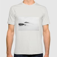 Mountains In The Clouds Mens Fitted Tee Silver SMALL