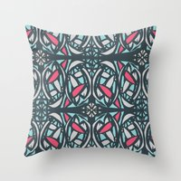 Stained Glass Tile Throw Pillow
