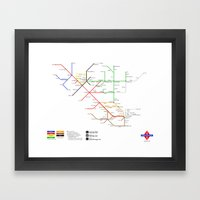 There And Back Again Framed Art Print