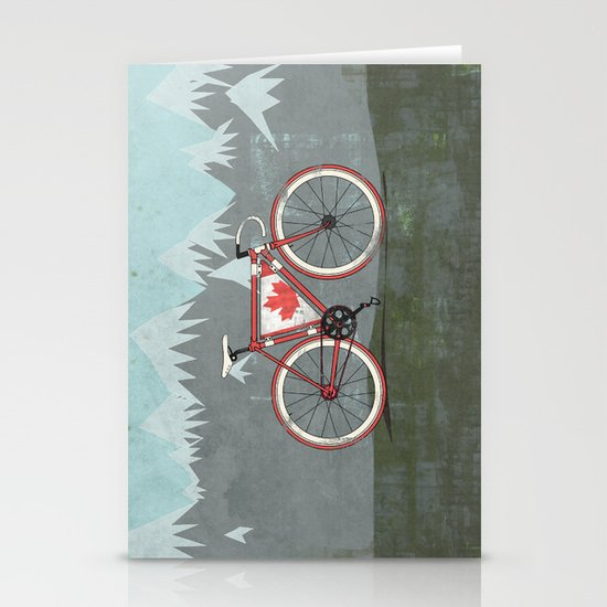 Love Bike, Love Canada Stationery Card
