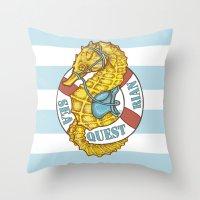 Seaquestrian Throw Pillow