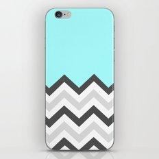 Color Blocked Chevron 16 iPhone & iPod Skin