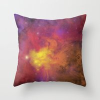 Nebula (plain) Throw Pillow